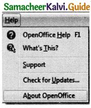 Samacheer Kalvi 11th Computer Applications Guide Chapter 6 Word Processor Basics (OpenOffice Writer) 16