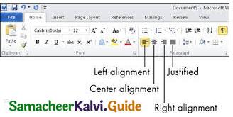 Samacheer Kalvi 11th Computer Applications Guide Chapter 6 Word Processor Basics (OpenOffice Writer) 30