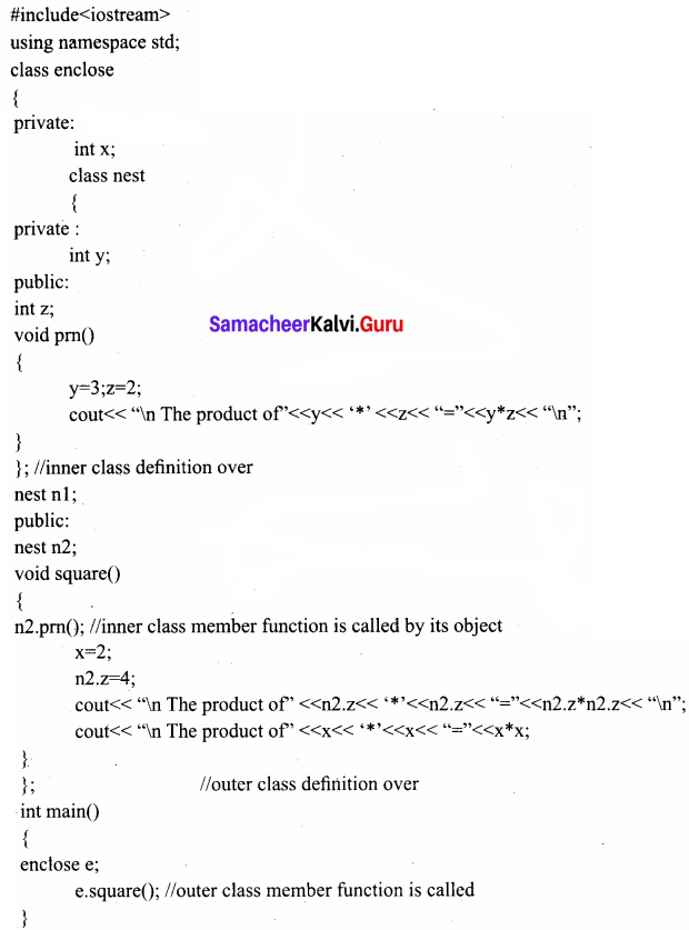 Samacheer Kalvi 11th Computer Science Solutions Chapter 14 Classes and Objects 4
