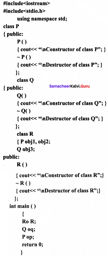 Samacheer Kalvi 11th Computer Science Solutions Chapter 14 Classes and Objects 8