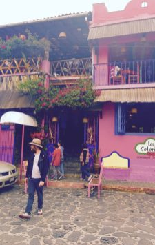 los colorines pink restaurant in tepoztlan