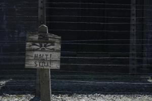 Barbed wire and warning signs - a reminder of the place it used to be