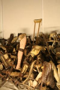 Prosthetic legs and crutches confiscated from inmates