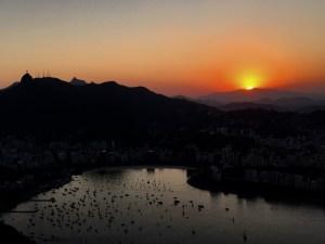 Stunning sunsets from Sugar Loaf mountain, Rio de Janeiro, Brazil