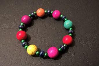 Howlit dziecięcy z koralikami - bransoletka dziecięca
