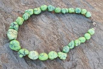Naszyjnik turmalin zielony