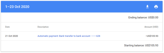 receiving google adsense payment