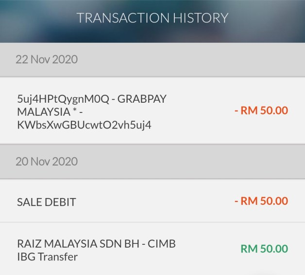 raiz malaysia review - withdrawal account