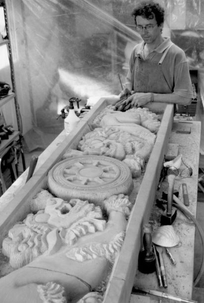 Carving the Snow Lions
