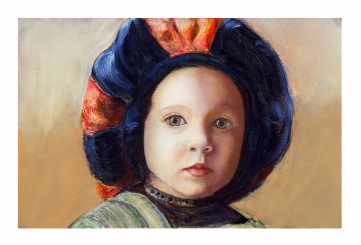 Oil painting of Zoe Albright