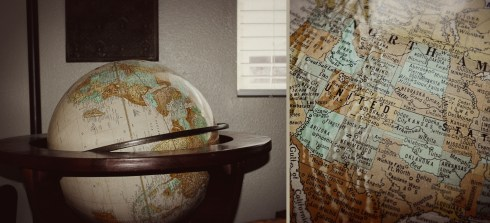 Floor Antique Globe