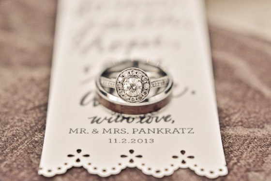 Harvard Photography rings and bookmark favor