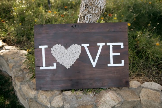 Harvard Photography love wooden sign