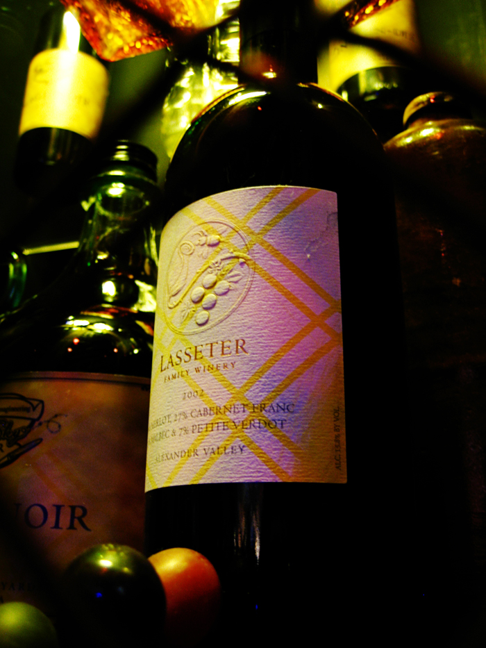 Lasseter wine label