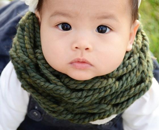 mama and mia scarf emerald baby 37