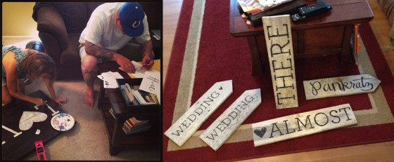 wedding wood signs DIY
