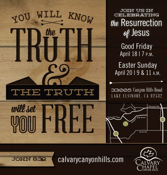 Calvary Canyon Hills Easter services 2014 designed by Sam Allen Creates