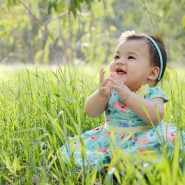 Outdoor Easter Dress Photos 9 Month Baby Photography_3026