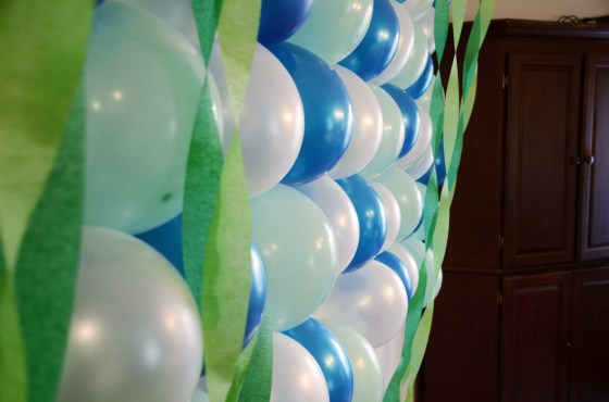 under the sea birthday party bubble wall 515