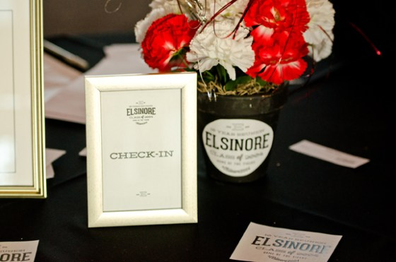 elsinore high 10 year reunion centerpiece sign