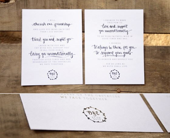 Your New Friend Sam Etsy Smiling Bubbly Handwritten Wedding Vows B&E 231