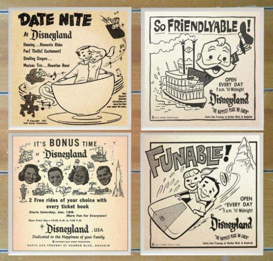 Disneyland coasters