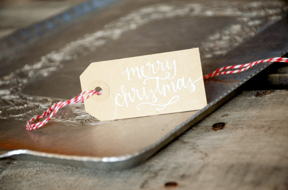 Your New Friend Sam Handwritten Merry Christmas Gift Tags