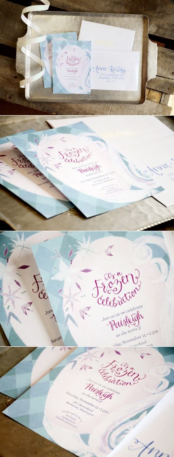 Frozen Inspired Birthday Invitation from Your New Friend Sam on Etsy