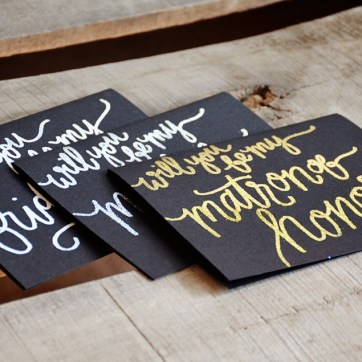 White, Silver or Gold Embossing Options