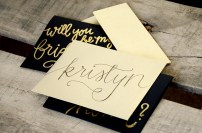 Personalized Gold Envelopes