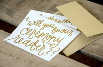 White with Gold Embossing