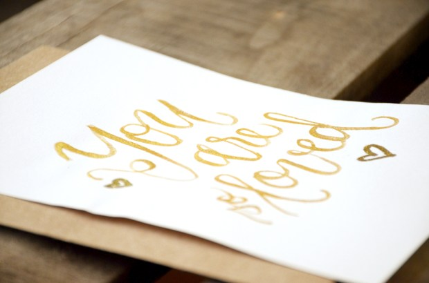 Sam Allen Creates Watercolor Handwritten You Are So Loved Print detail
