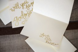 Godmother Invitations by Your New Friend Sam - Cream Cardstock with Personalized Gold Glitter Embossing Signature