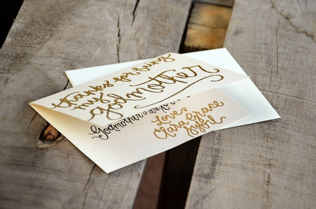 Thank You For Being My Godmother Personalized Poem and Signature by Your New Friend Sam - Cream Cardstock with Gold Embossing