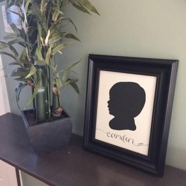 Your New Friend Sam Papercut Camden Framed at Home