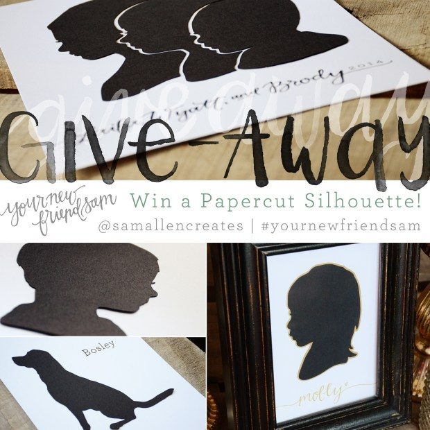 Your New Friend Sam Papercut Silhouette Give-Away