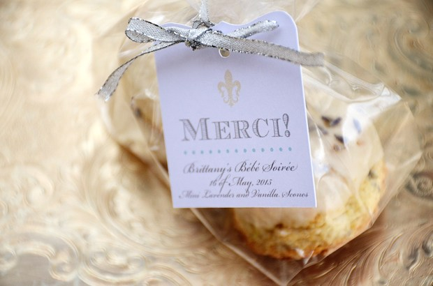french country baby shower bebe soiree au revoir scone favors 2