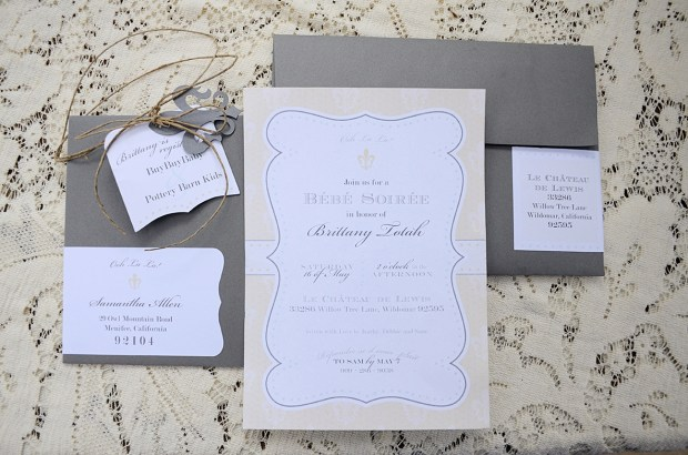 french country baby shower bebe soiree invitation 2