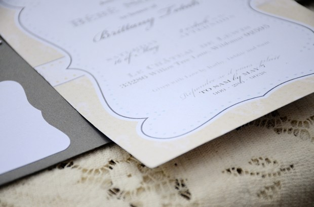 french country baby shower bebe soiree invitation detail 1