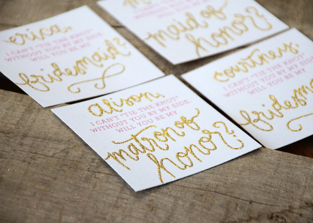 Your New Friend Sam Bridesmaid Invitations Tie the Knot