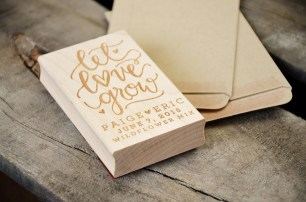 Your New Friend Sam Let Love Grow Rubber Stamp and Seed Envelopes
