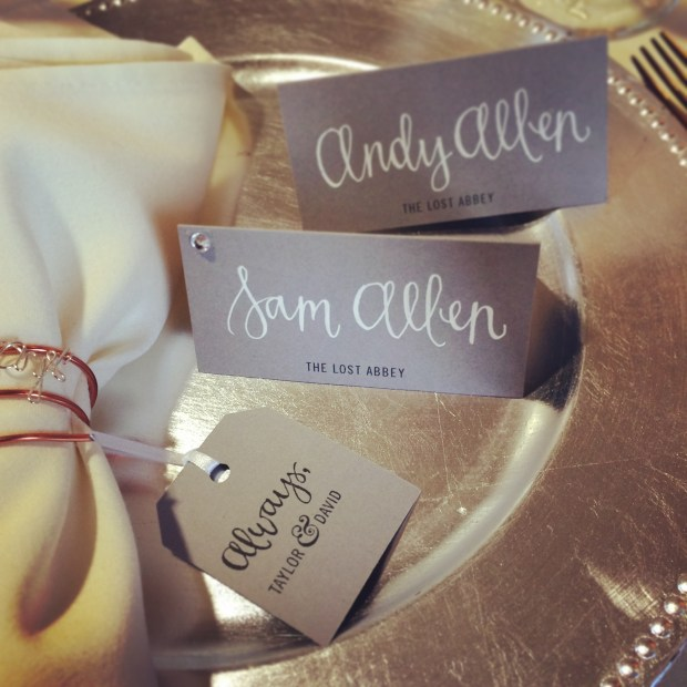 Your New Friend Sam tent cards for Taylors Wedding