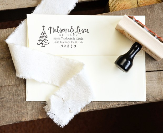 Your New Friend Sam Etsy Christmas Address Stamp