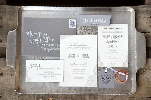 Sam Allen Creates Wedding Invitation Suite for Taylor full