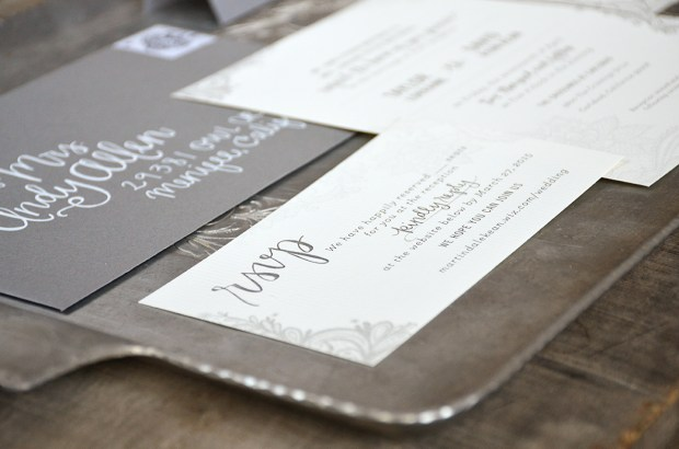 Sam Allen Creates Wedding Invitation Suite for Taylor RSVP