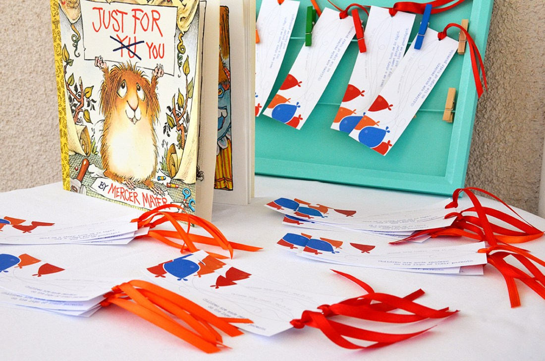Storybook Baby Shower Bookmarks 1