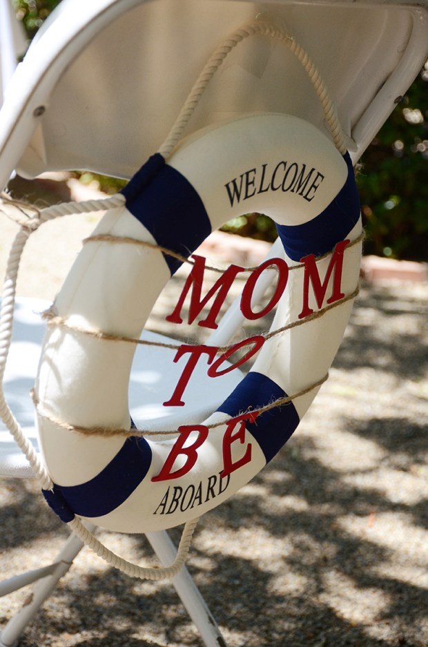 Sams Nautical Baby Shower Mom to Be Chair