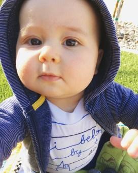 Isaiah 9 Months Backyard Fun 2