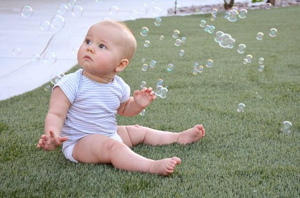 Isaiah 9 Months Bubbles 1