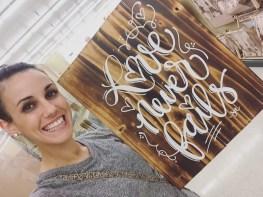 Sam Allen Creates for Hobby Lobby - Love Never Fails -Sara